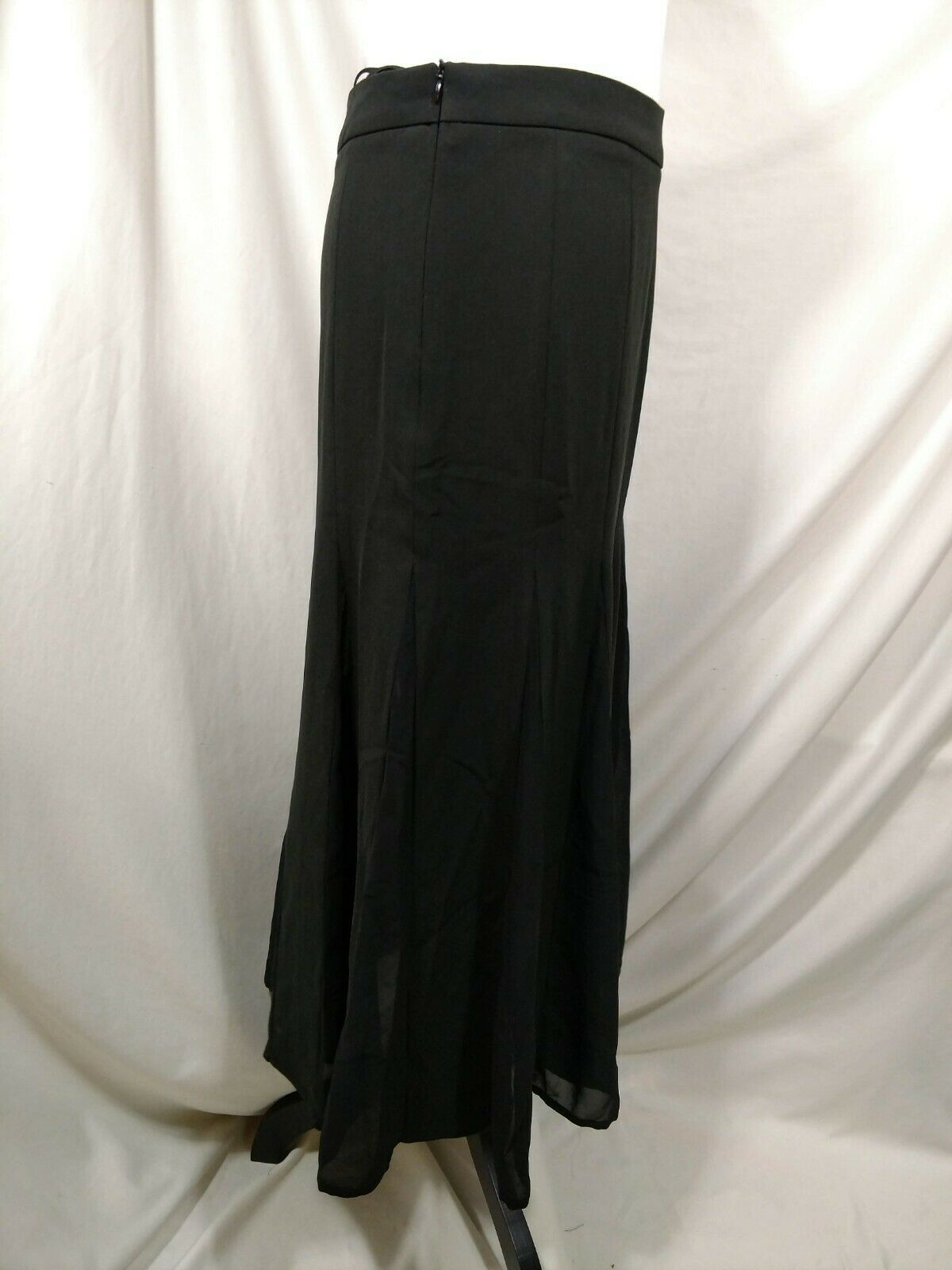 "STYLEWE Black Skirt Medium ""XL"" Flowy Fit & Flare SHANGMAN 6 8 Maxi Long Modest image 3"