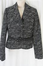 Anne Klein Petite Suit Separate Blazer Sz 2P Onyx Black Alabaster Belted... - $49.44