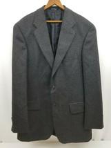Chaps Ralph Lauren Mens Sport Coat 100% Wool Brown Gray Herringbone Blaz... - $29.02