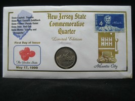New Jersey State First Day Of Issue Commemorative Quarter Unc & 4 Cent S... - $7.92