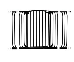 Dreambaby Chelsea Extra Tall and Wide Auto Close Security Gate in Black with Ext