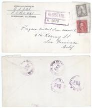 2/28/29 San Mateo Burlingame CA to San Francisco REGISTERED Cover! 1929 - $7.69