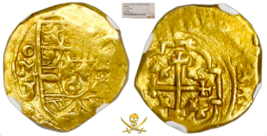 MEXICO 1712-15 FLEET SHIPWRECK 1 ESCUDO PIRATE GOLD COINS TREASURE COB L... - $2,950.00