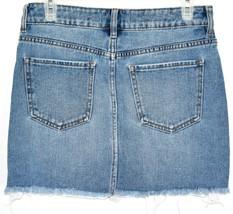 PacSun Light Blue Jean Denim Skirt w Raw Hem Size 24 image 2
