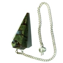 Natural Agate Gemstone for Dowsing Divination Chakra Reiki Pendulum  - $7.00
