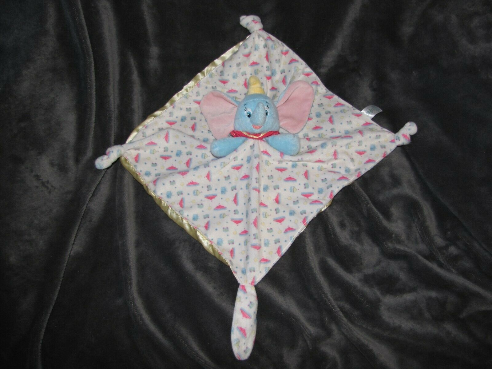 Disney Baby Kids Preferred Plush Dumbo Secuirty Blanket Lovey Elephant Yellow