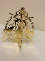 "Danbury Mint - 1989 Gold Christmas Ornament -  ""Santa Over Rooftop"" (A12) - $15.95"