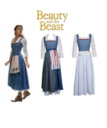 Beauty and the Beast Movie Belle Costume Emma Watson Outfit Maid Dress - $153.99
