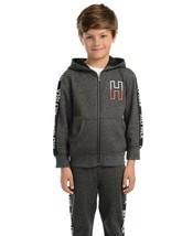 New Tommy Hilfiger Little Boys Wyatt Full Zip Fleece Logo Hoodie Sz 5T Jacket - $33.56