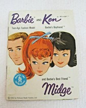 1962 Barbie & Ken & Midge Costume & Outfit Book Mattel Kokusai Good Shap... - $9.41