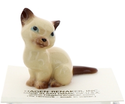 Hagen-Renaker Miniature Cat Figurine Siamese Mama Chocolate Point image 1
