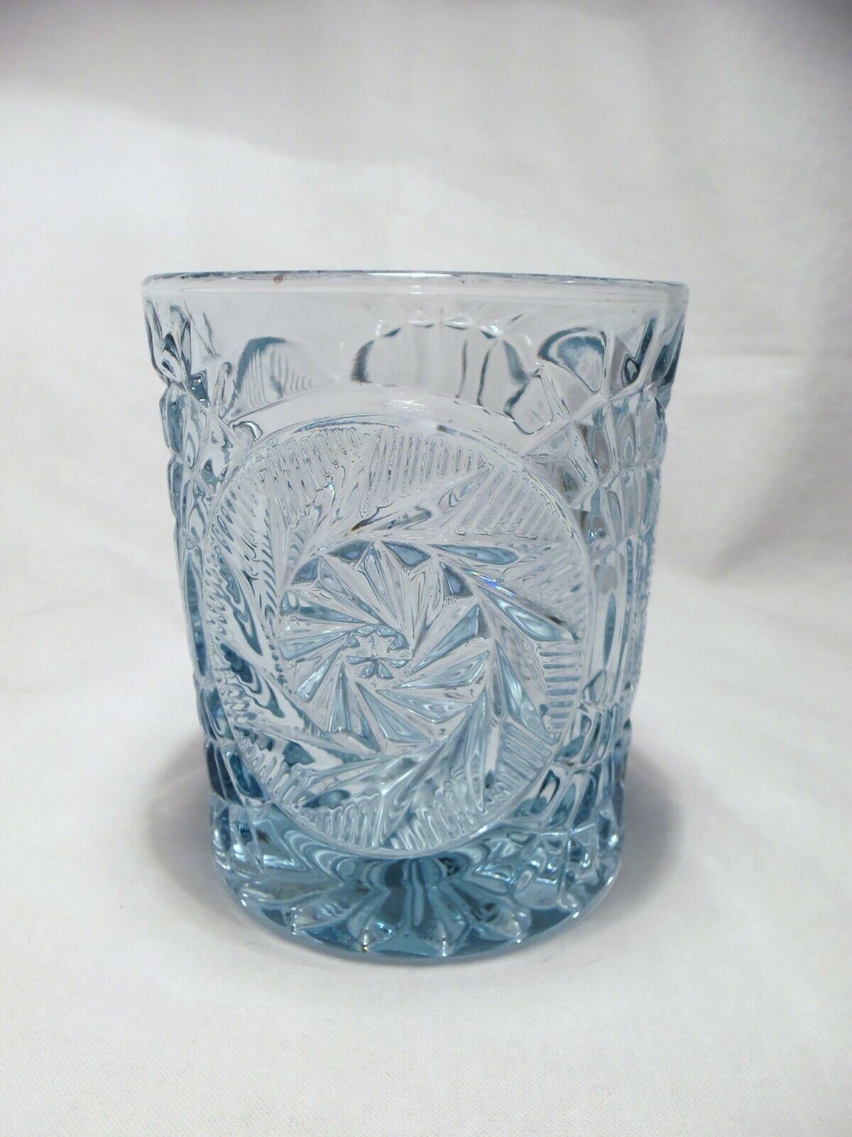 Primary image for 4 Fostoria STOWE Blue Double Old Fashion Rocks glasses