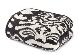 Kashwere Damask Dark Grey and Malt Throw Blanket - $175.00