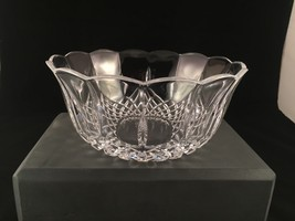Lead crystal diamond cut scalloped rim 6 3/4 inch diameter bowl - $26.99