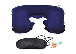 PU Health Travel Neck Pillow Hoodie with Hood, Eye Mask, and Ear Buds, B... - $23.69