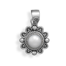 Sterling Silver Pendant with Cultured Freshwater Pearl - $31.99
