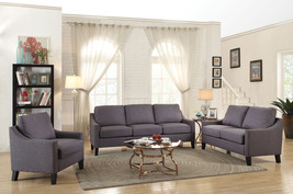 Acme Zapata Jr Loveseat, Gray Linen - $330.40