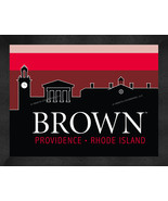 Brown University Bears 13 x 16 Uscape with Retro Skyline Framed Print  - $39.95