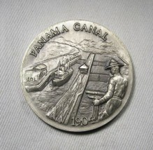 1904 Panama Canal Longines Sterling Silver Medal AK477 - $30.89