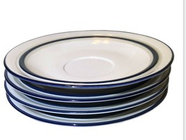 "Mikasa New Avenues Blue Glow 6.25"" Bundle Of 4 Salad Plates-No Chips/cracks - $40.81"