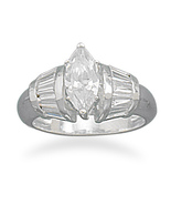 8648 marquise cut cz with baguette side ring thumbtall