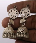HANDMADE VINTAGE ANTIQUE ETHNIC OLD SILVER TRIBAL EARRING BELLY DANCE E-16  - $69.29