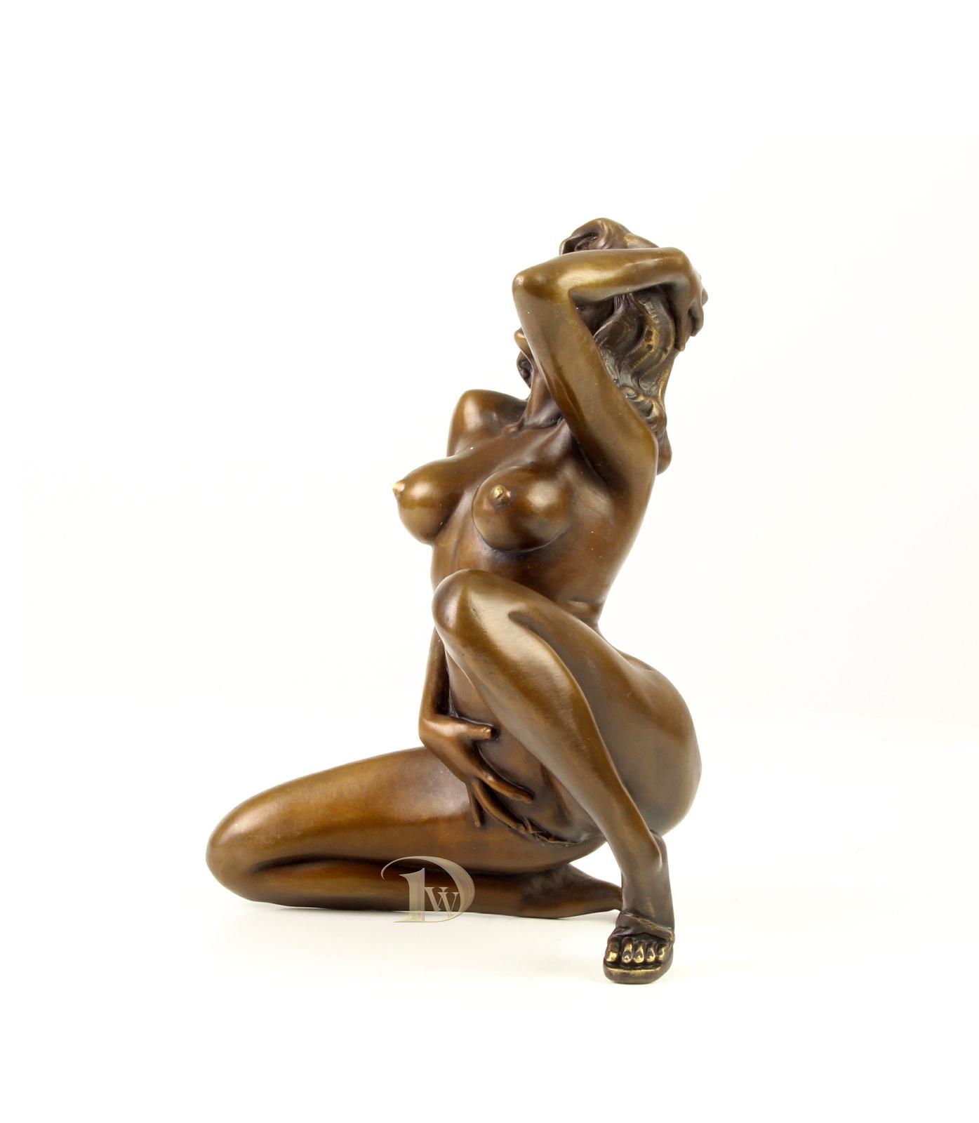 Antique Home Decor Bronze Sculpture Erotic Bronze Femme Fatale Free Air Shipping