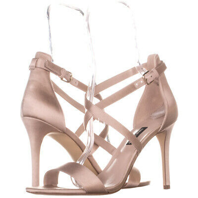 Nine West Mydebut Dress Heel Sandals 931, Blush, 9.5 US