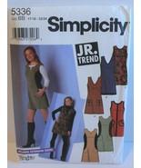 Simplicity Sewing Pattern 5336 Juniors Jumper Mini Size 17/18-23/24 - $8.09