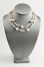 "30"" VINTAGE ESTATE Jewelry CHINESE EXPORT ROSE QUARTZ BEAD STRAND NECKLACE - $55.00"