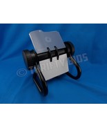 Rolodex 67236 Rotary Business Card File Black Missing index cards file E, N - $14.84