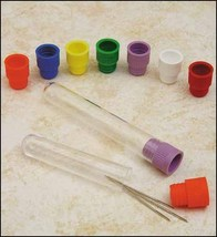 "Long needle tube organizers cross stitch needlework 2 5/8' long inside 3/8"" dia - $0.60"
