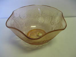 "Indiana Glass Tiara Exclusives Rose Sandwich 10"" Serving Bowl USA - $52.99"