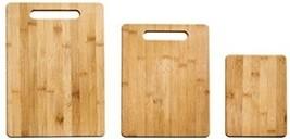 Farberware 5190597 3-Piece Bamboo Cutting Board Set, Assorted Sizes - $36.98