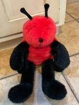 "MANHATTAN TOY CO. LOLA LADYBUG BEETLE 17"" RED BLACK STUFFED ANIMAL NEW NWOT - $22.05"