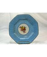 Steubenville Pattern #8666 Salad Plate Blue Sponge & Floral - $6.29