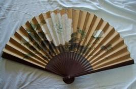 Vintage Oriental Hand Painted Wall Art Decorative FAN - $54.45