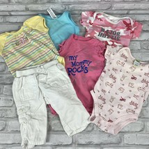 Girls Size 3-9 Month 6 PC Lot Pants Body Suits Baby Gap Garanimals Old N... - $16.39