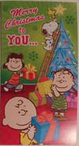 Greeting Christmas Card Peanuts money gift card holder Merry Christmas t... - $2.99