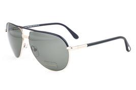Tom Ford Cole Black & Gold / Green Polarized Sunglasses TF285 01J - $224.42