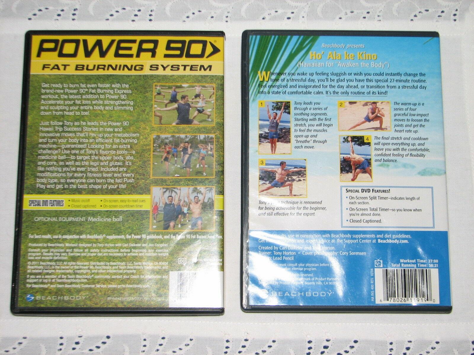 Two Tony Horton DVD's POWER 90 FAT BURNING SYSTEM HO'ALAKE KINO AWAKEN THE BODY image 2