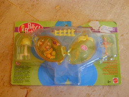2000 Polly Pocket FRUIT SURPRISE LEMON Scented PLAYSET DOLL Necklace MOC... - $54.99