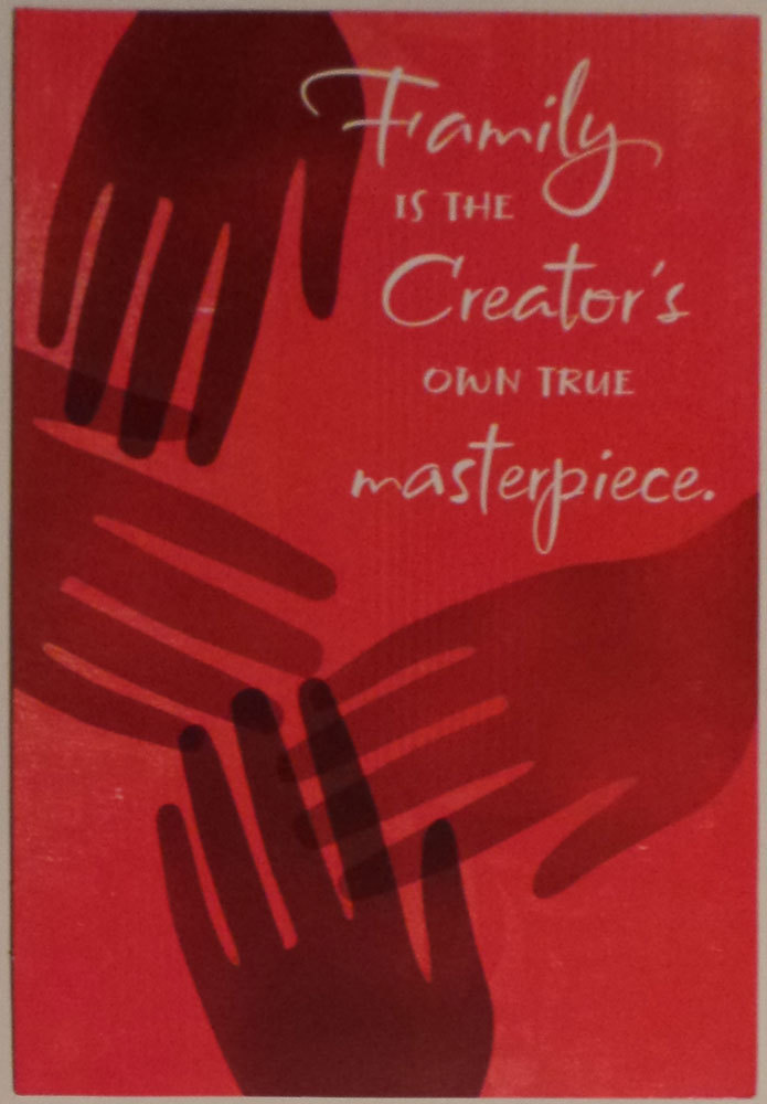 "Primary image for Greeting Kwanzaa Card ""Family is the Creator's own true masterpiece."""