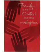 "Greeting Kwanzaa Card ""Family is the Creator's own true masterpiece."" - $2.99"