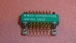 NEW 1PC CONTINENTAL MM20-22P D9103SS CONN 20-PIN GOLD PCB 90°GUIDE BRKT ... - $15.00
