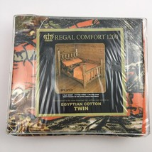 Regal Comfort Orange Camo Camouflage Twin Size Sheet Set Microfiber - $29.65