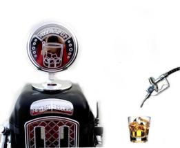 Mini dispensador de cerveza diseño gasolinera retro con doble pistola su... - $31.90