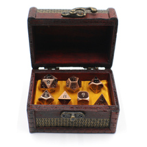 Metal D&D Dice Set with Storage Chest / Box for Roleplaying Games - $34.90