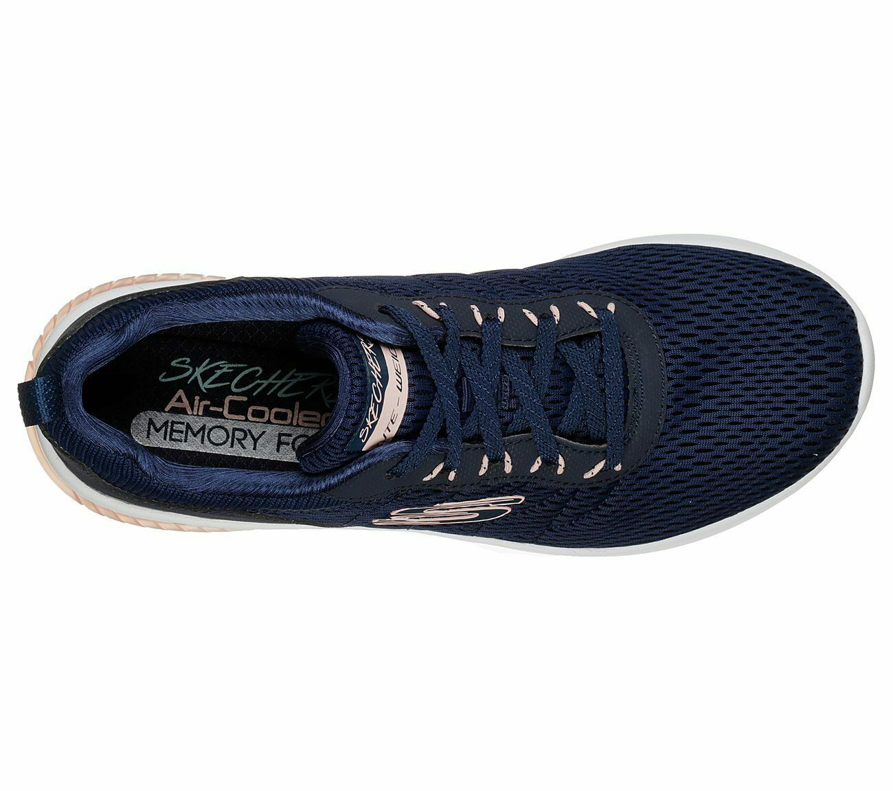 Skechers Navy Pink shoes Memory Foam Women's Sporty Air Ultra Flex Comfort 13290 image 5