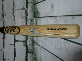 JOSE CANSECO Autographed Signed Rawlings Blonde Bat JSA Witness 3 Inscri... - $79.46